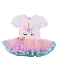 Unicorn Birthday Girl Tutu Dress