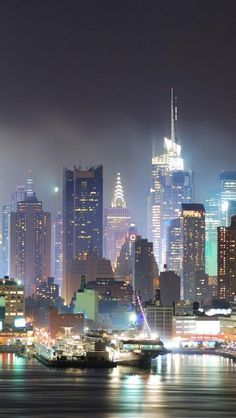 New York City great place to be on these kind of nights looking out threw a hotel with your love one!