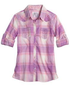 Sequin Pocket Plaid Shirt | Girls Shirts Clothes | Shop Justice