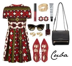 """Pack and Go: Cuba"" by lilymadelyn ❤ liked on Polyvore featuring Valentino, Givenchy, Dolce&Gabbana, John Lewis, Chloé and Bobbi Brown Cosmetics"