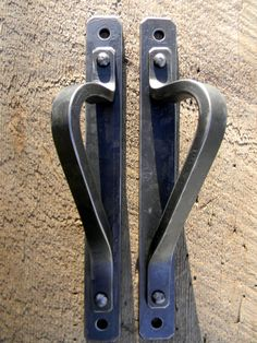 Forged Steel Interior Door Handles by Strauss Design Studio, $175.00  https://www.etsy.com/listing/116963892/forged-steel-interior-door-handles-with