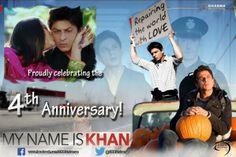 """""""Rizwan Khan showed the world that love and humanity is beyond religion. My Name Is Khan, 4th Anniversary, That's Love, Shahrukh Khan, Embedded Image Permalink, Bollywood, Religion, King, Celebrities"""