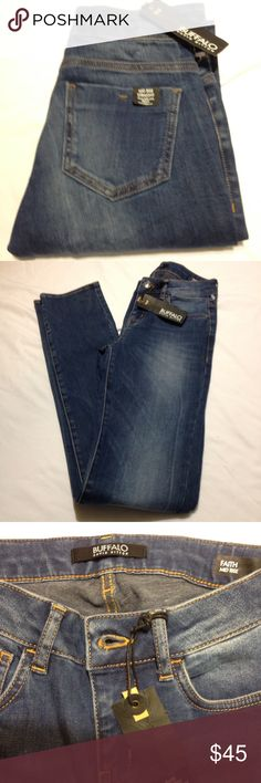 Buffalo  Faith Jeans NWT Buffalo Faith Mid Rise Straight leg and stretch Jean size 25. Length  42. Inseam 34. 92%Cotton 6%Polyester 2%Elastane. Clean Vintage. Buffalo Jeans Straight Leg