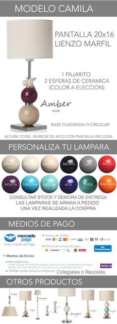 Velador Con Esfera De Ceramica Y Pajarito Vintage - $ 1.599,00