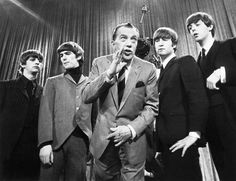large photos of the beatles | Beatles And Ed Sullivan Photograph - Beatles And Ed Sullivan Fine Art ...