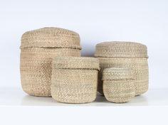 PANGO: Natural Lidded Storage Baskets The Plan, Basket Weaving, Hand Weaving, Potato Storage, Lid Storage, Kerosene Lamp, Kitchen Supplies, Solar Lights, Ideal Home