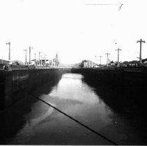 Image Of Going through Panama Canal 1942 Battleship North Carolina, Uss North Carolina, Ship Names, Panama Canal, Online Collections, Diorama, Bb, Ships, Image