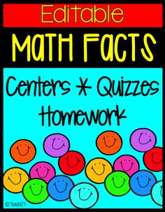 Math Facts: Addition - structured program that is also EDITABLE to help your students learn their math facts. $