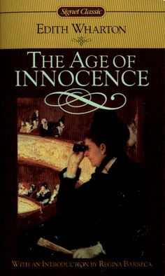 The Age of Innocence by Edith Wharton, the first woman to win the Pulitzer Prize for this novel in 1921. Set in 1870s New York society, the Age of Innocence centers on an upper-class couple's impending marriage, and the introduction of a woman plagued by scandal whose presence threatens their happiness.