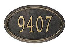 WHCONCORDOVAL Concord Oval Classic Address Plaque