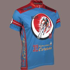 Buy Retro Cycling Jersey - 1952 Vuelta Cataluna - Mens - Blue 8aaa94ffc