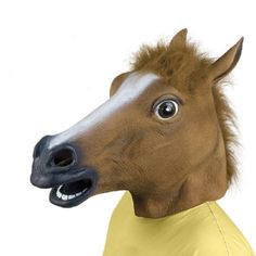 Cosplay Halloween Horse Head Mask Latex Animal ZOO Party Costume Prop Toys Novel -- Awesome products selected by Anna Churchill Coastumes Halloween Effrayants, Mascaras Halloween, Masque Halloween, Creepy Halloween Costumes, Halloween Karneval, Halloween Festival, Halloween Fancy Dress, Halloween Cosplay, Creepy Masks