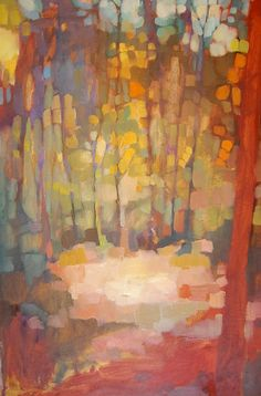 abstract trees painting, Olivia Pendergast (born in Florida; based in Seattle, WA) aka Holly Mae (Holly is her initial name). Landscape Art, Landscape Paintings, Landscapes, Acrylic Paintings, Forest Landscape, Acrylic Art, Gravure Photo, Art And Illustration, Tree Art
