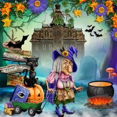 Anntaurus Designs 'Wickedy Witch' Digital Scrapbook Kit