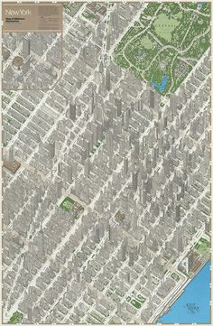 New York - Map of Midtown Manhattan by Michael Stoll, via Flickr