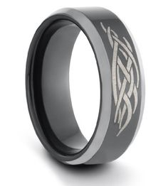 8MM Tungsten Carbide Mens/Ladies/Unisex Black Polished Comfort Fit Wedding Band Ring w/ Laser Engraved Tribal Design (Available Sizes 7-14 Including Half Sizes) TWG Tungsten. $34.95. 60 Day Money Back Guarantee. Genuine Tungsten Carbide. Hypo-Allergenic. BEWARE OF CHEAP IMITATIONS!!. Comfort Fit Design