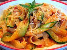 Tagliatelle With Zucchini, Tomato and Fresh Herbs - Kalofagas - Greek Food & Beyond - Kalofagas - Greek Food & Beyond