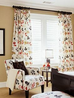 Curtains on pinterest pom poms dining room curtains and window