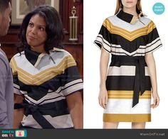 Karen millen yellow striped dress