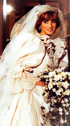 Princess Diana on her wedding day, July 29th, 1981.