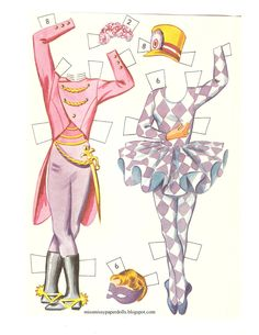 Miss Missy Paper Dolls: ballet