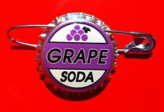 Ellie Badge Inspired Grape Soda Bottlecap Pin Up di MyHoard