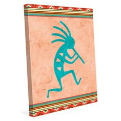 Click Wall Art Kokopelli Graphic Art on Wrapped Canvas Size: