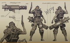 Discover The Art of Zak Foreman, an American Concept Artist currently working at Epic Games. Fallout Concept Art, Star Wars Concept Art, Character Concept, Character Art, Character Design, Arte Ninja, Junkyard Dog, Post Apocalypse, Animation