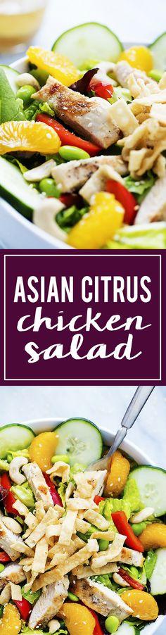 Zupas Cafe-inspired Asian Citrus Chicken Salad | Creme de la Crumb