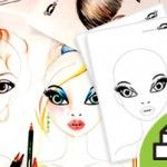 FACE PRINTABLES for Drawing Hair and Make-Up
