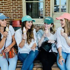 Wearing our MEM hats for #theiccampaign ... it was really hard to take this picture before the ice cream started melting 😲📸@marykatesteele