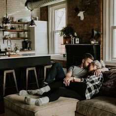 I want their socks, style, and kitchen. Already have their cute relationship, thank you very much ;)