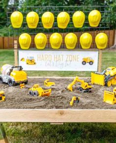 "Discover the amazing ""Hard Hat Zone"" party activity in this building … – Wanderlust 3rd Birthday Party For Boy, Birthday Themes For Boys, Pirate Birthday, Boys 2nd Birthday Party Ideas, Construction Birthday Parties, Construction Party Games, Construction Birthday Invitations, Party Activities, Sand Pit"