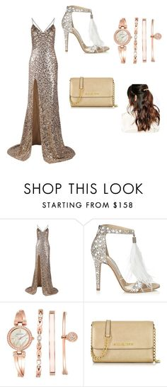 """Untitled #25"" by brandy-carringer ❤ liked on Polyvore featuring Jimmy Choo, Anne Klein, Michael Kors and Suzywan DELUXE"