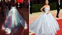 The lady in the glowing dress was Claire Danes who caught most of the attention. No surprise there! This year's Met Gala was in the tech theme so the stars