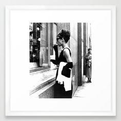 Audrey Hepburn Framed Art Print Audrey Hepburn, Framed Art Prints, My Eyes, Polaroid Film