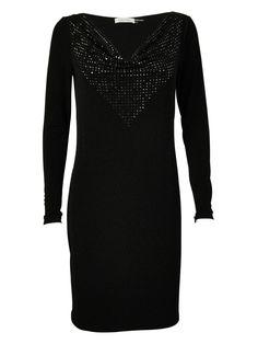 Calvin Klein Women's Sequined Neck Stretch Fabric Dress