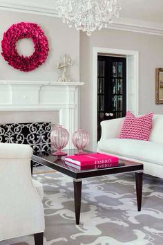 Femenine Home decor with Pink Accents