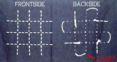 Some Common Rules of Sashiko Stitching - Right & Wrong | design by Aika ... Carry the tread across the back of your work to move to next section, if the distance is an inch or less. Make sure the crossing thread is loose, so the fabric doesn't pucker.