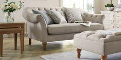 Buy Harrington Large Sofa (3 Seats) Belgian Soft Twill Dark Natural High Turned - Standard from the Next UK online shop