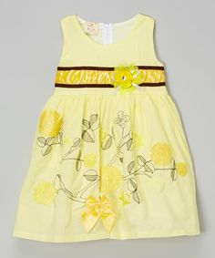 Look at this Yellow Flowers & Vines Dress - Toddler & Girls on #zulily today!