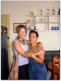 Sandra con turista. Cuba, Sandro, Havana