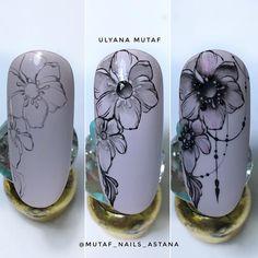 24 Ideas For Fails Art Gel Tutorial Polish Nail Polish Art, Gel Nail Art, Hawaiian Nails, Nail Drawing, Diy Nail Designs, Pin On, Flower Nails, 3d Nails, Nail Tutorials