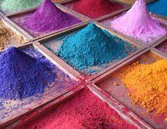 Holi color powder. Bombay, desi, Delhi, festival, Hindu, Holi, India, Indian, Mumbai, Rajasthan