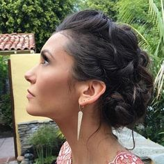 Now you can recreate Nina Dobrev's stunning red carpet hairstyle.