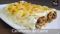 How make Meat Cannelloni step by step. This traditional Italian recipe is very easy to made and very tasty. How To Make Spinach, Scottish Recipes, Italian Pasta, Tasty Dishes, Italian Recipes, Love Food, Easy Meals, Cooking Recipes, Recipes