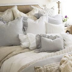Linen being in neutral colors is easy on the eye & skin.