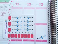 052 Planner Stickers Travel Stickers Vacation by PlannerMania