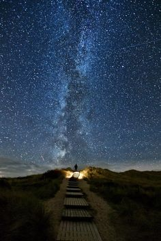 There is a place in Ireland where every two years on June 10-18 the stars line up with this bridge. It's called heavens trail.