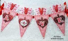 Love banner using Harlequin Script BG designed by Heidi Blankenship